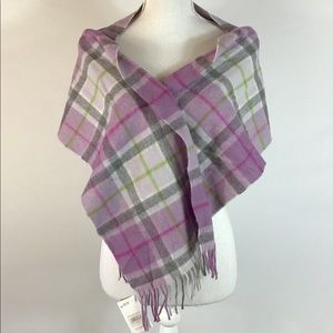 EDINBURGH Women's Light Purple Lambswool Scarf OS